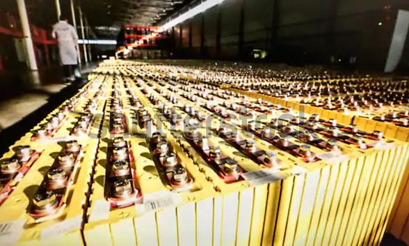 Empresa con baterías solares
