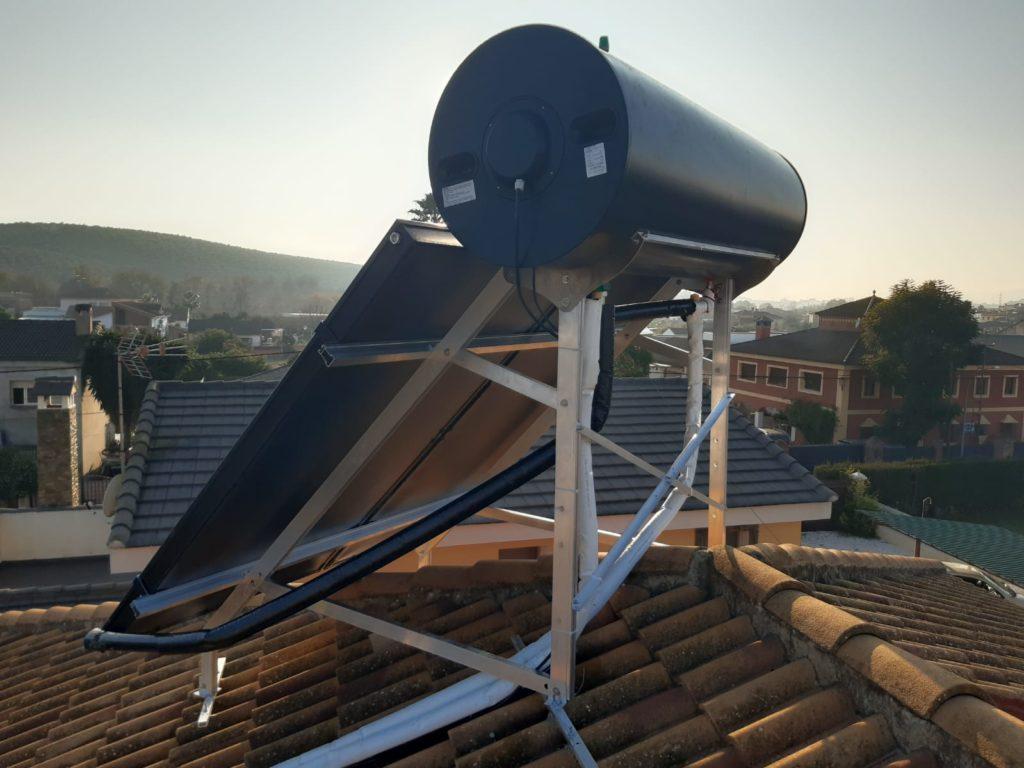 Paneles solares de agua caliente