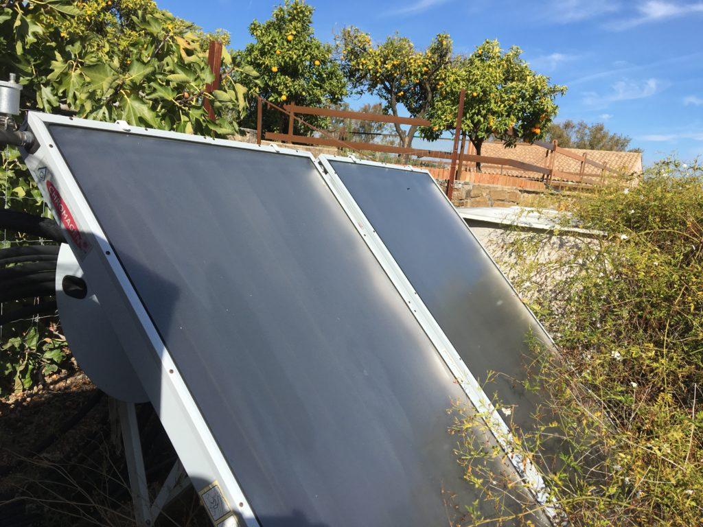 Placas solares agua caliente