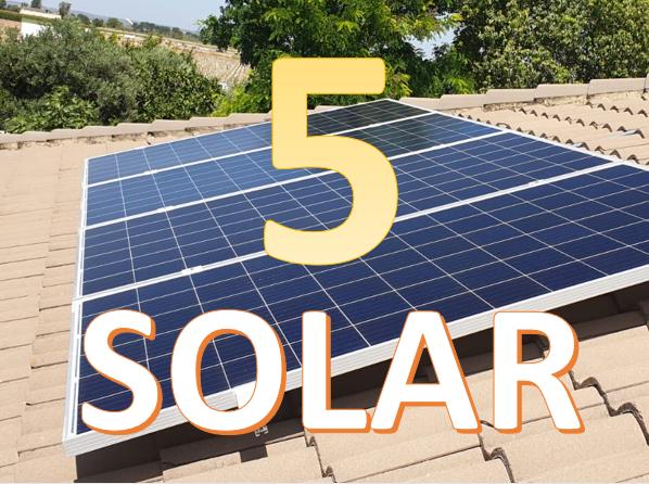 Plan 5 placas solares